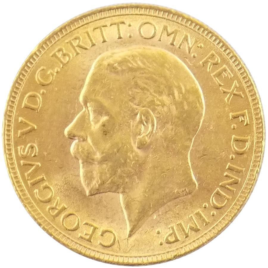 Pre-Owned 1930 South Africa Mint George V Full Sovereign Gold Coin