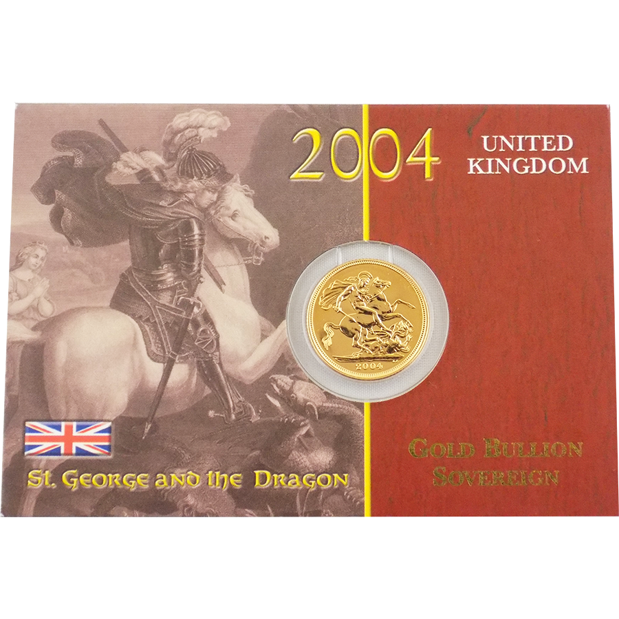 Pre-Owned 2004 UK Carded Full Sovereign Gold Coin (Image 1)