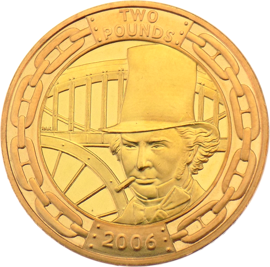 Pre-Owned 2006 Brunel £2 Gold Coin