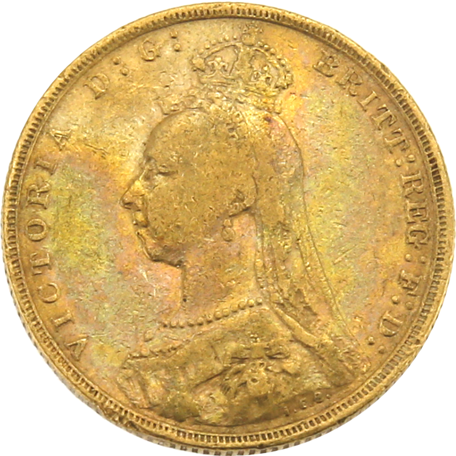 Pre-Owned 1892 London Mint Victoria Jubilee Head Full Sovereign Gold Coin