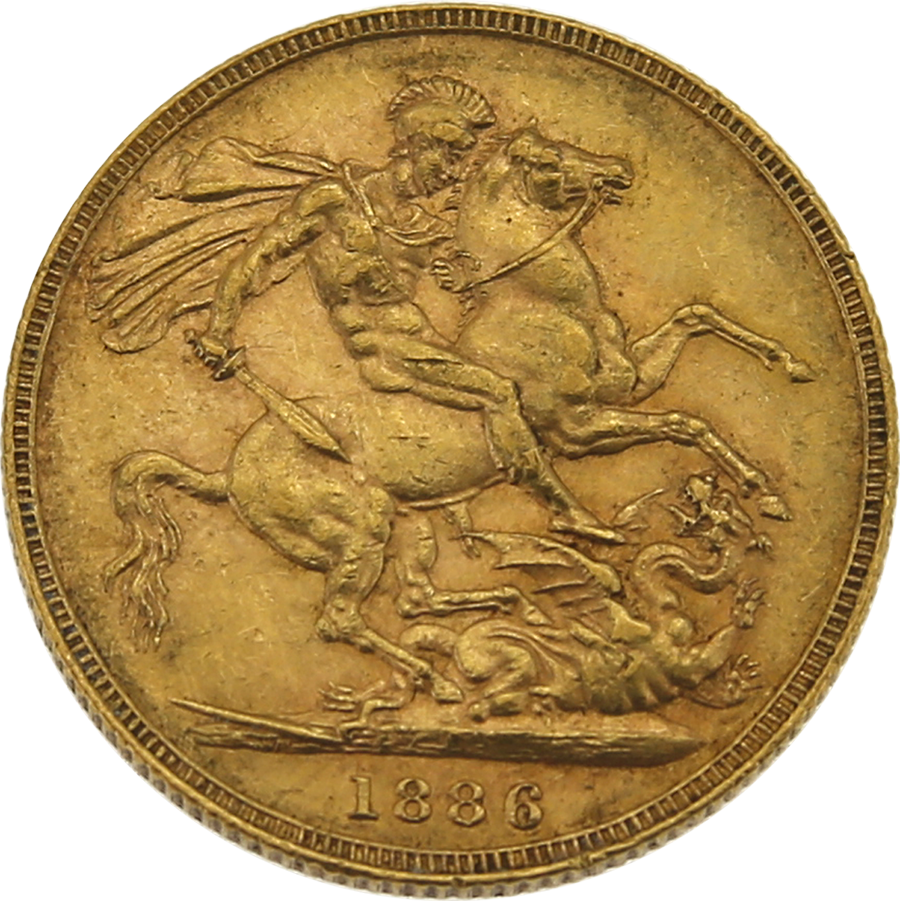 Buy 1886 Melbourne Young Head Victoria Full Gold Sovereign