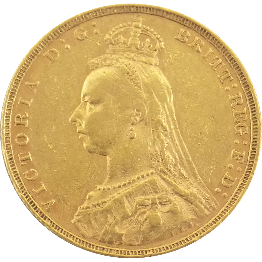 Pre Owned 1890 Queen Victoria Jubilee Head Full Sovereign