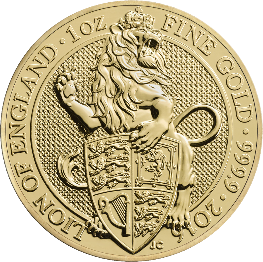 2016 UK Queen's Beasts The Lion 1oz Gold Coin (Image 1)