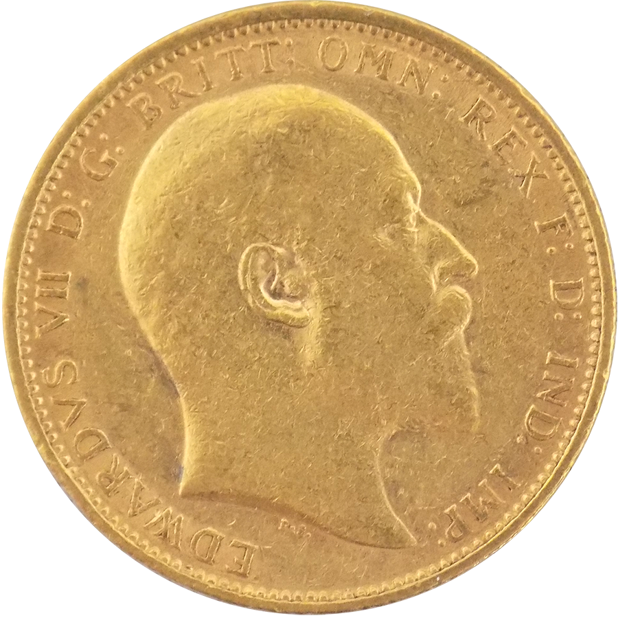 Pre-Owned 1903 Sydney Mint Edward VII Full Sovereign Gold Coin