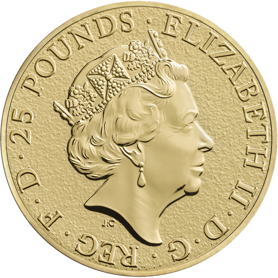2016 UK Queen's Beasts The Lion 1/4oz Gold Coin (Image 2)