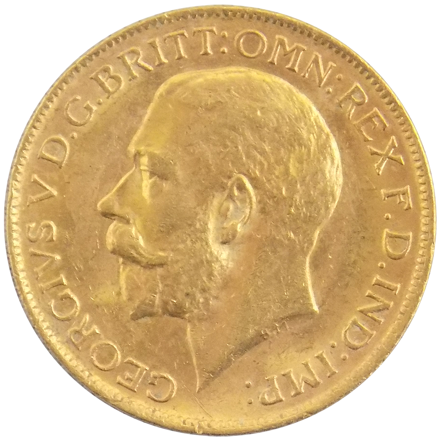 Pre-Owned 1921 Perth Mint George V Full Sovereign Gold Coin