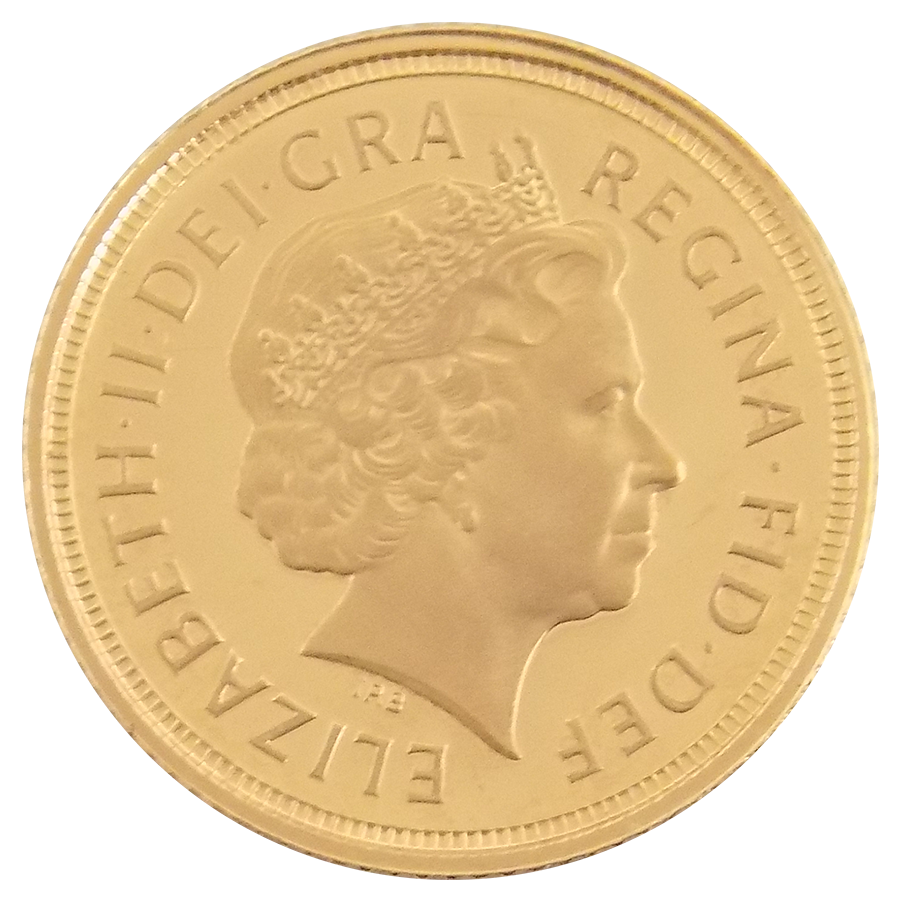 Pre-Owned 2009 UK Elizabeth II Half Sovereign Gold Coin