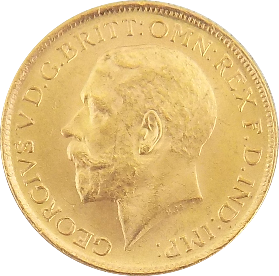 Pre-Owned 1915 Sydney Mint George V Full Sovereign Gold Coin