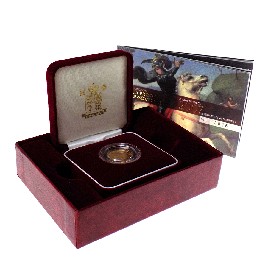 Pre-Owned 2007 UK Proof Half Sovereign Gold Coin