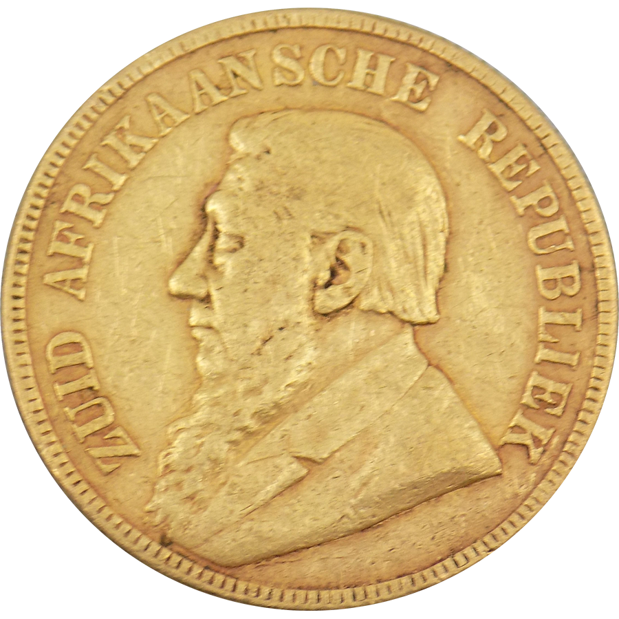 Pre-Owned 1897 South African 1 Pond Gold Coin