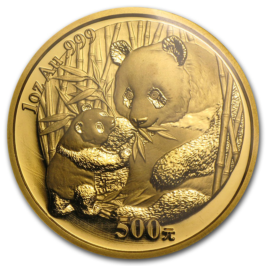 Pre-Owned 2005 Chinese Panda 1oz Gold Coin