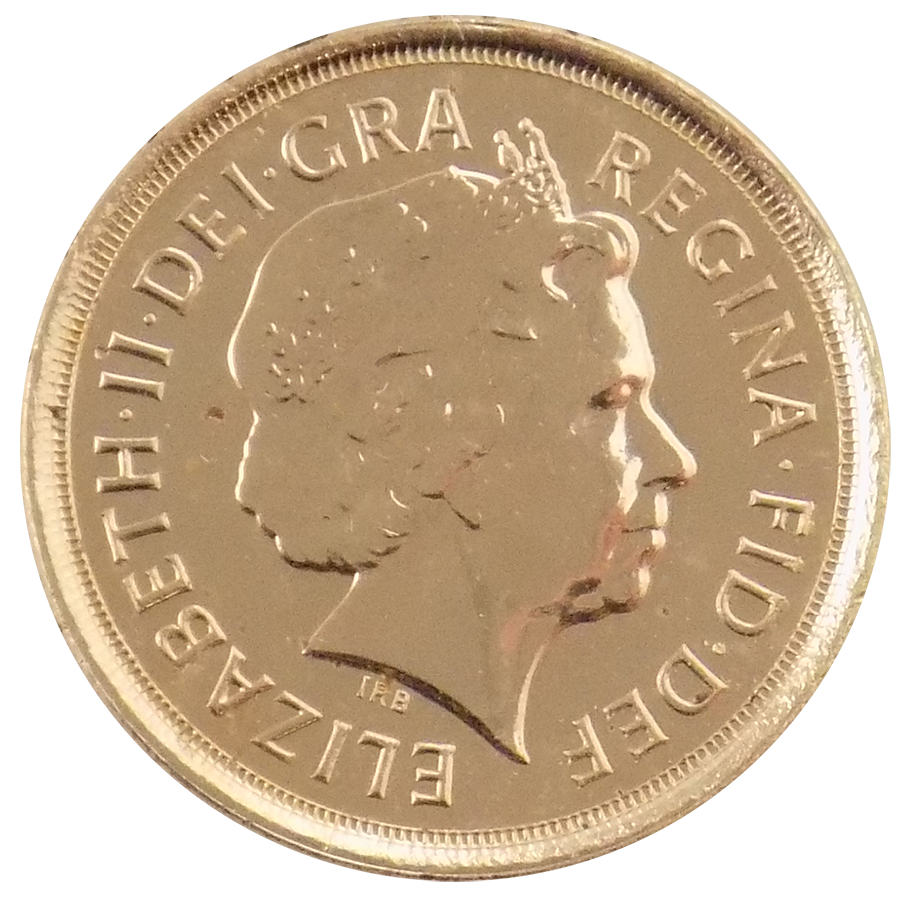 Pre-Owned 2010 UK Quarter Sovereign Gold Coin