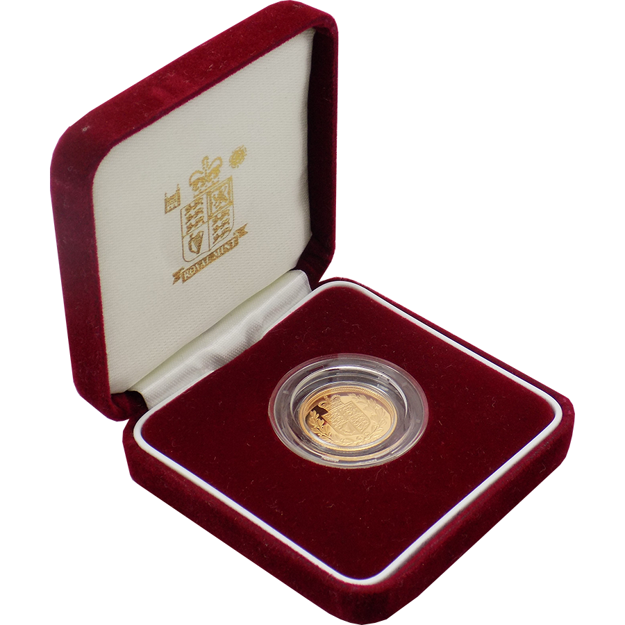 Pre-Owned 2002 UK 'Shield' Half Sovereign Gold Coin - Boxed