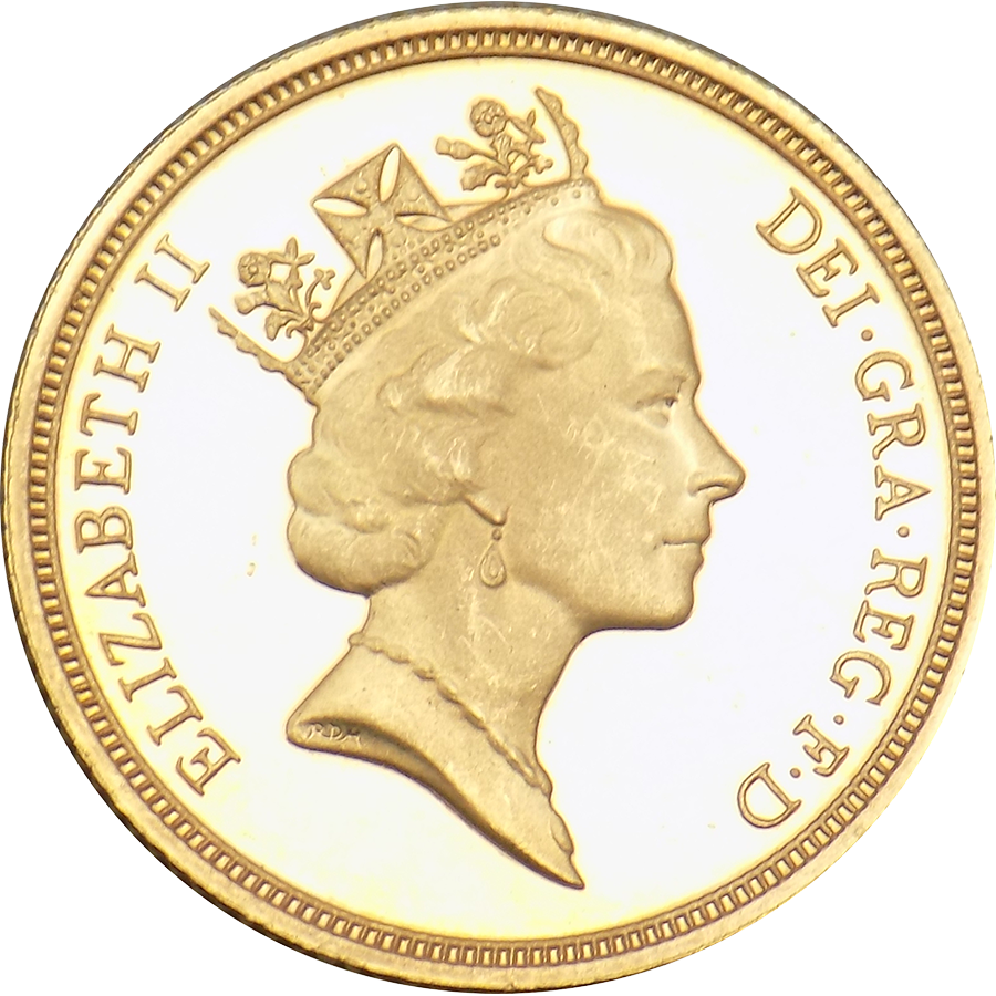 Pre-Owned 1994 UK Maklouf Head Full Sovereign Gold Coin (Image 1)