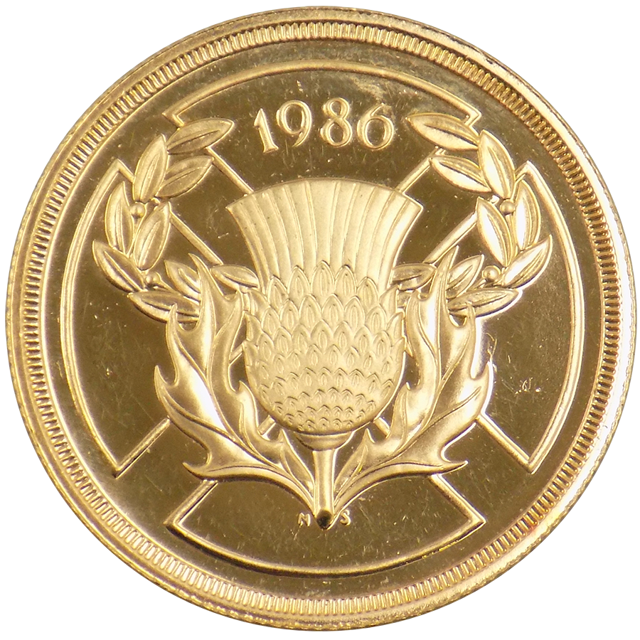 1986 Uk Double Sovereign Gold Coin Rare 2 Pound Coins