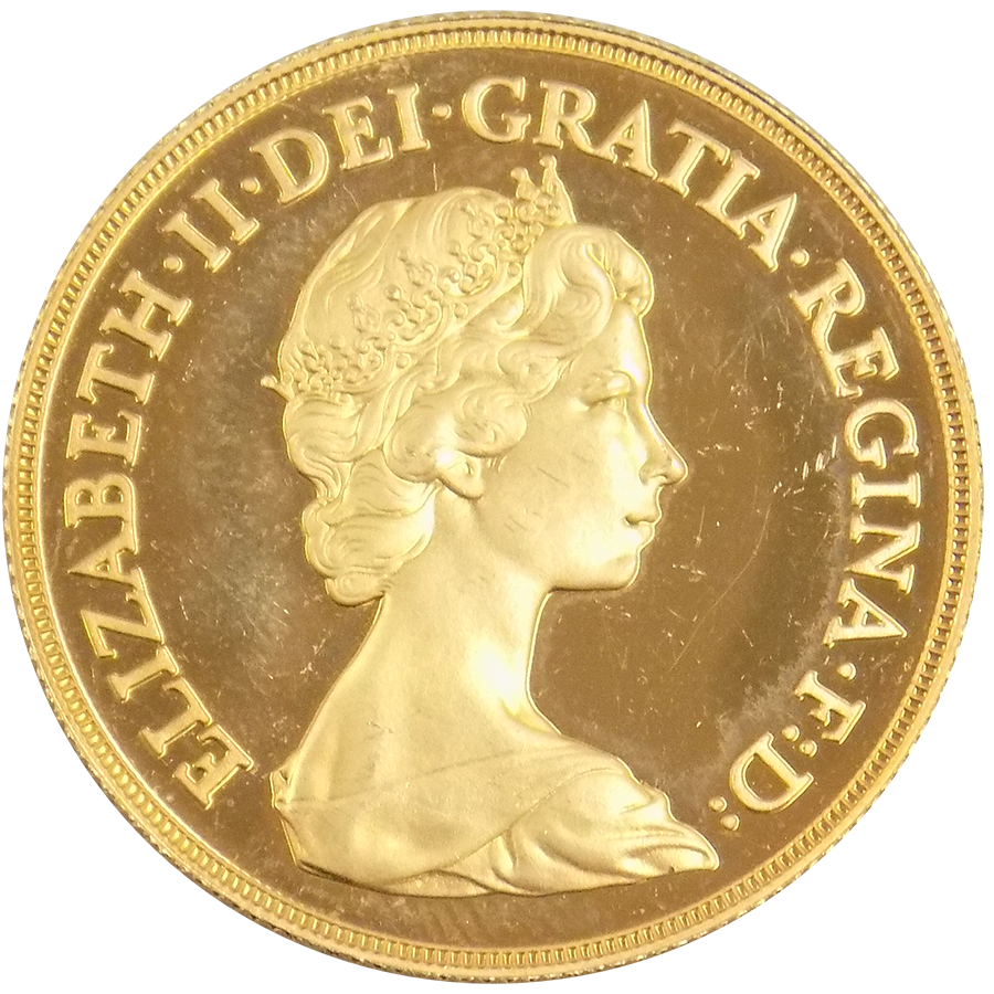 1980 Double Sovereign Gold Coin Rare 2 Pound Coins