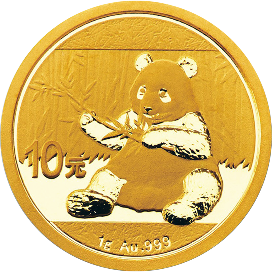 Pre-Owned 2017 Chinese Panda 1g Gold Coin