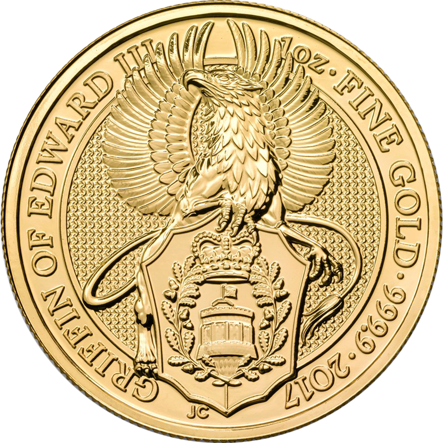 2017 UK Queen's Beasts The Griffin 1oz Gold Coin