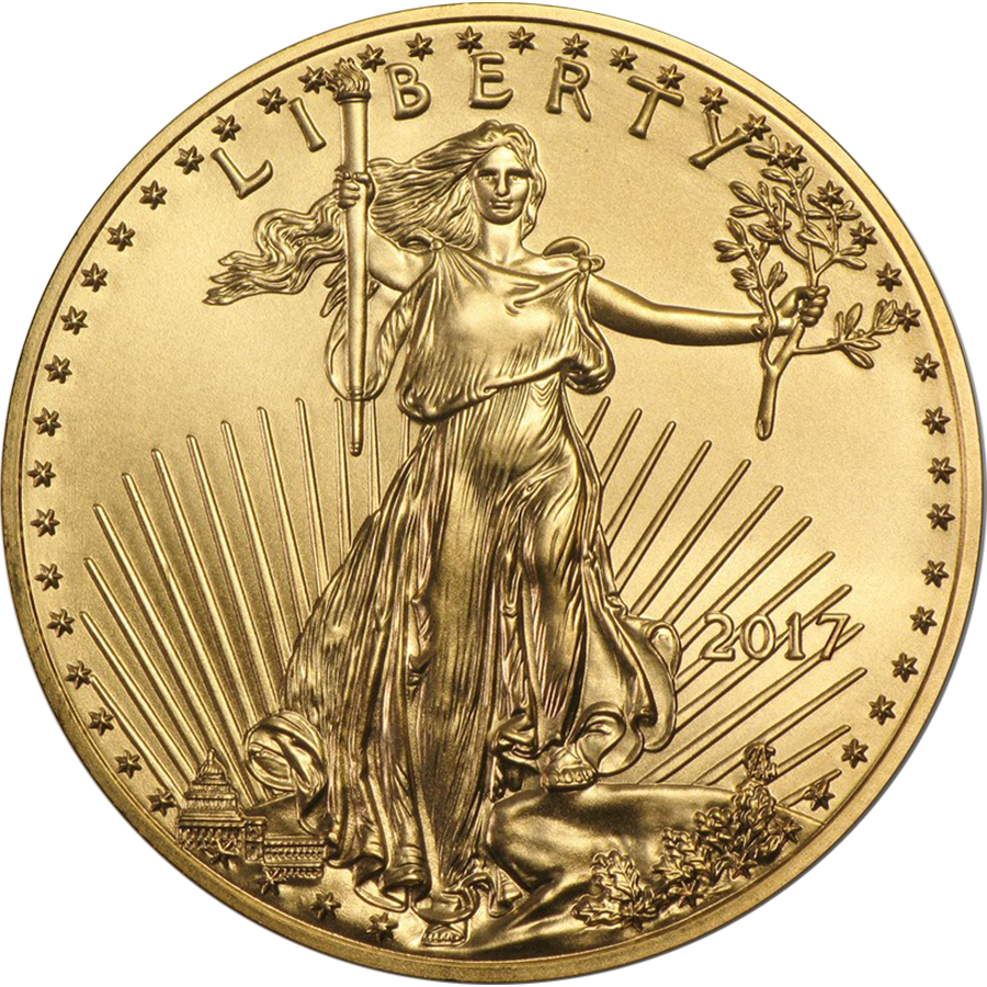 2017 Usa Eagle 1oz Gold Coin Free Insured Delivery