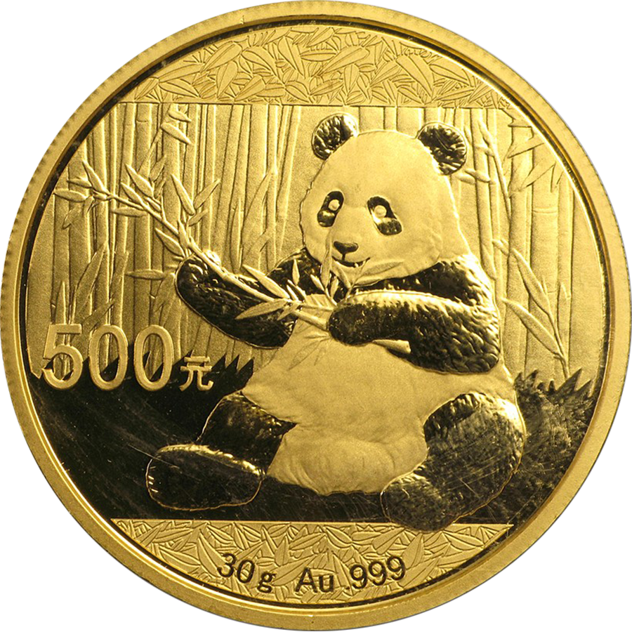 Chinese Panda 30g Gold Coin - Post 2015
