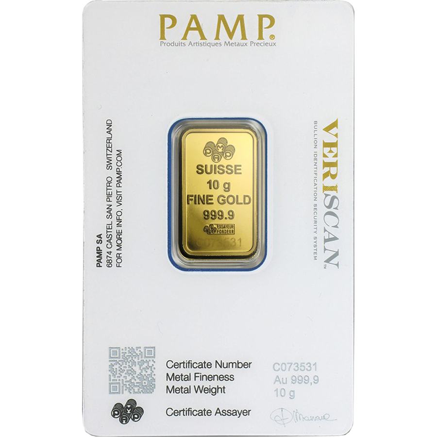 PAMP Suisse Fortuna 10g Gold 25 Bar Box (Image 4)