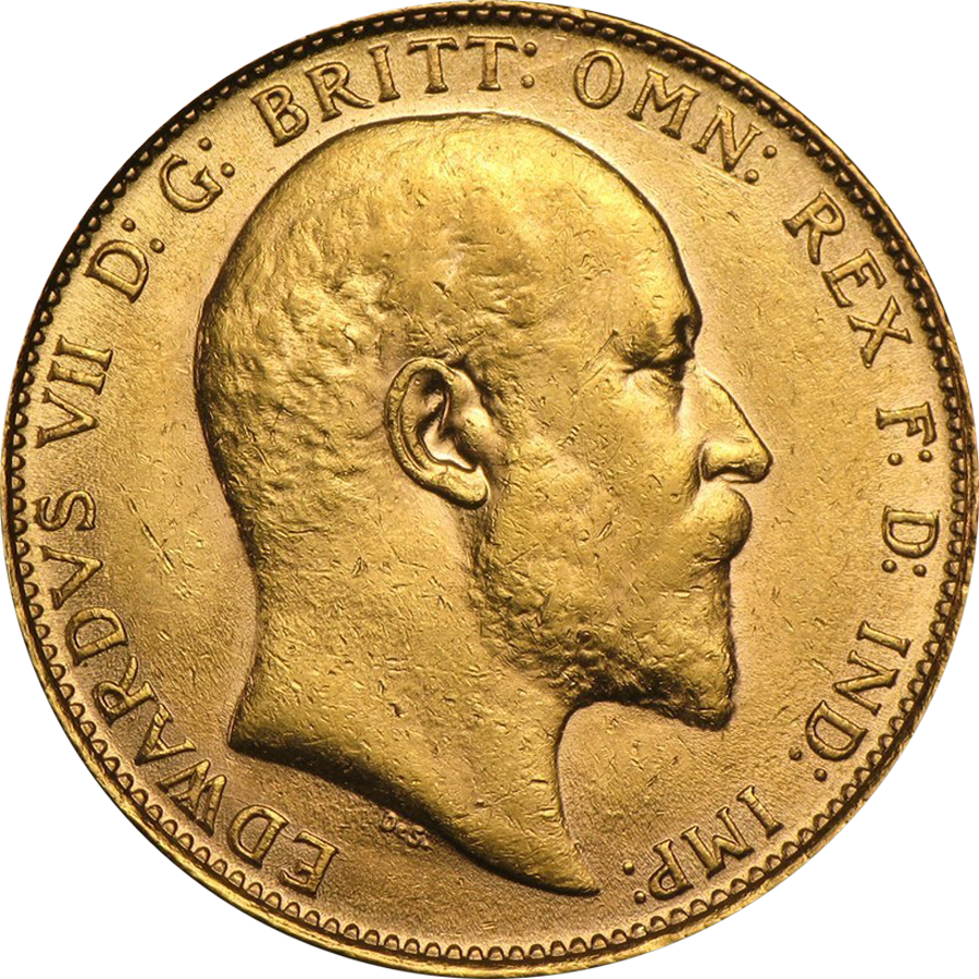 UK Full Sovereign Gold Coin Edward VII 1902-1910