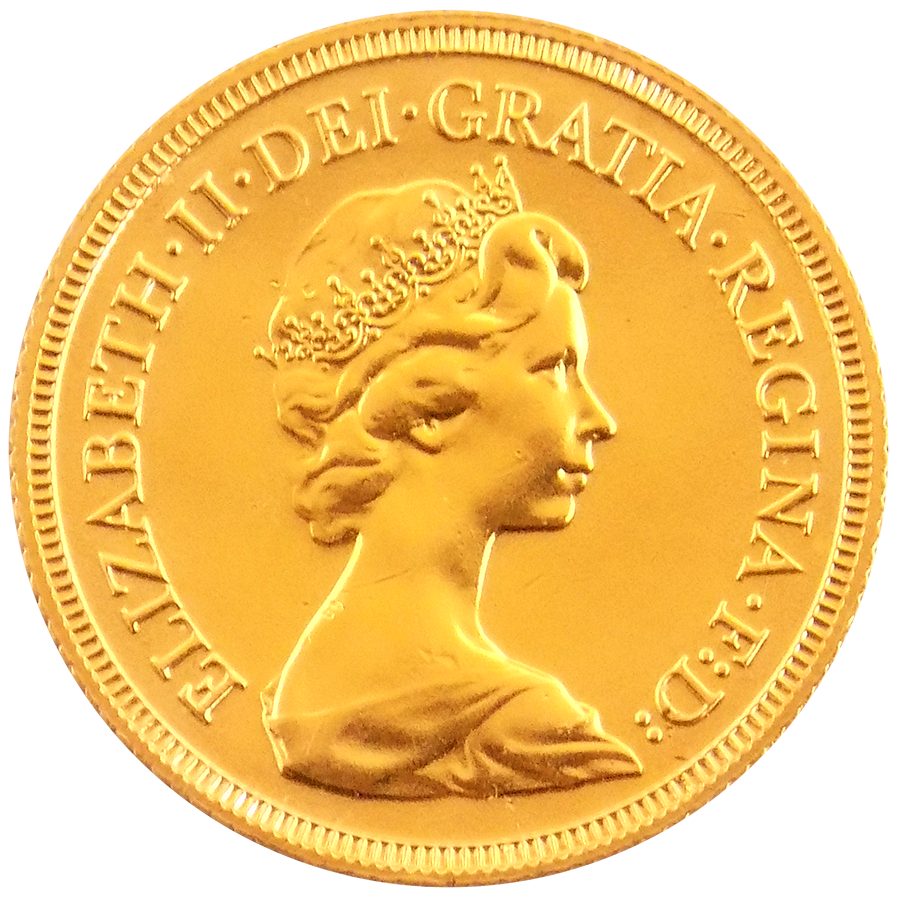 UK Full Sovereign Gold Coin Elizabeth II 1974-1984
