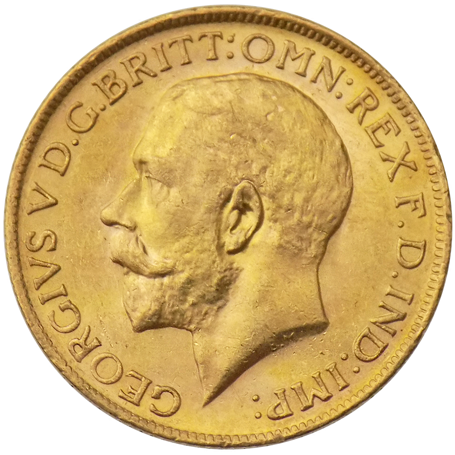 UK Full Sovereign Gold Coin George V 1911-1932