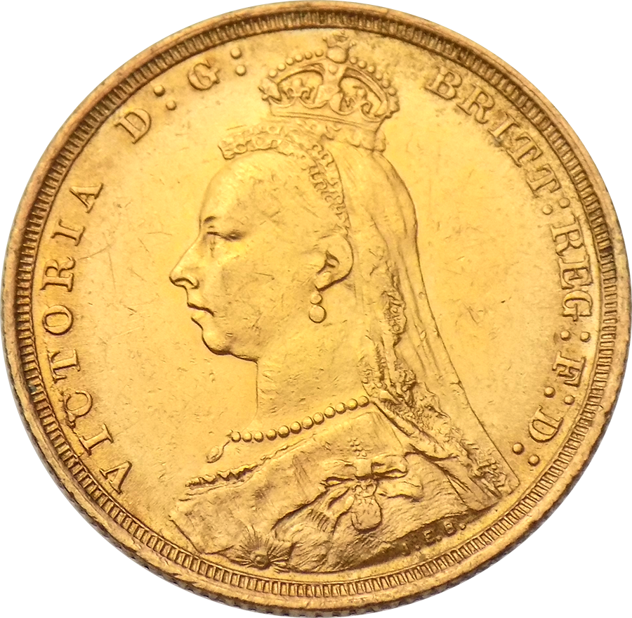 UK Full Sovereign Gold Coin Victoria 1887-1893