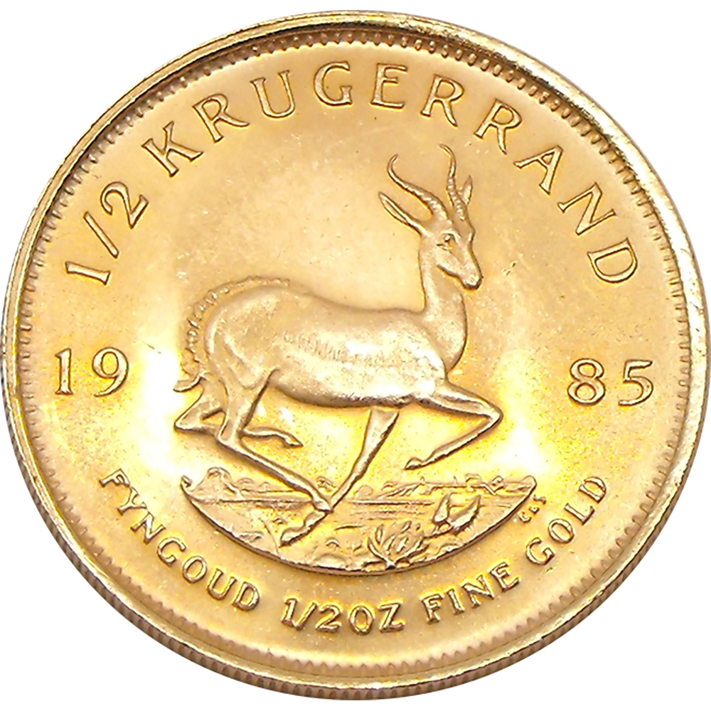 South African Krugerrand 1/2oz Gold Coin - Mixed Dates