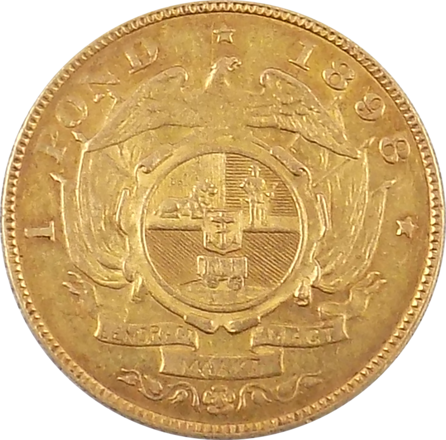 South African 1 Pond Gold Coin - Mixed Dates