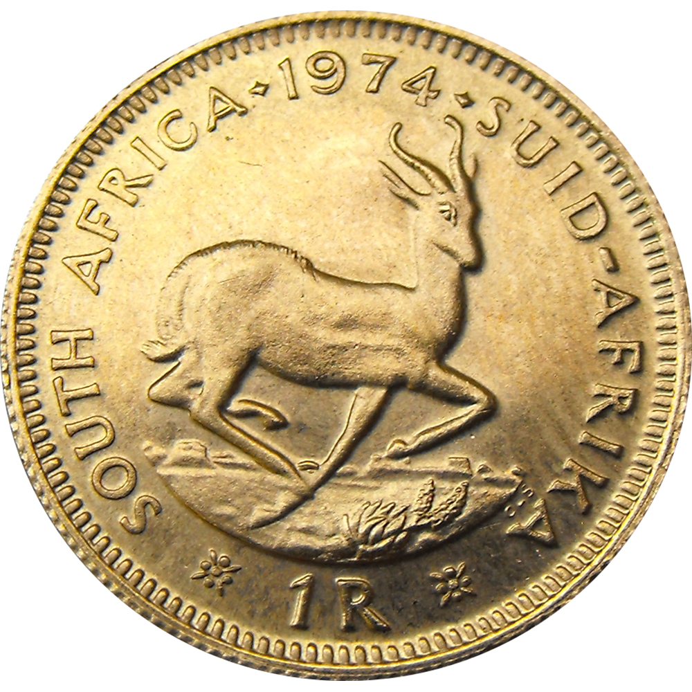 South African 1 Rand Gold Coin - Mixed Dates
