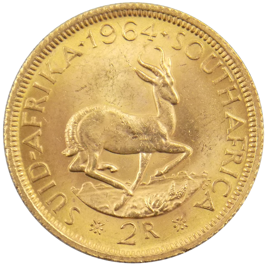 South African 2 Rand Gold Coin - Mixed Dates