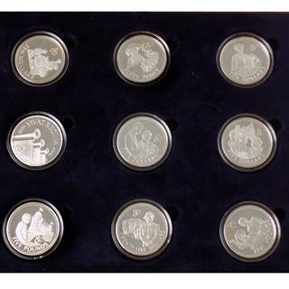 Pre-Owned 2006 UK Queen Elizabeth II 80th Birthday Crown Silver Proof  17-Coin Collection - VAT Free
